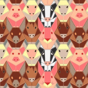 Hand-Stitched Farm Animals - Medium