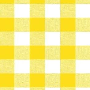 Yellow Gingham Large