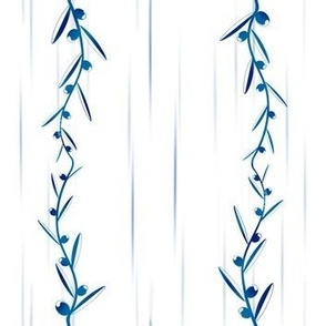 Blue olive tree branches