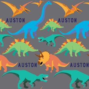 Dinosaurs in Blue and Green