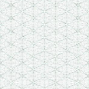 Watercolor Tie Dye Hexagon - Green - Small
