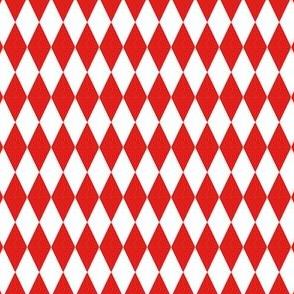 Harlequin Diamond Circus Red