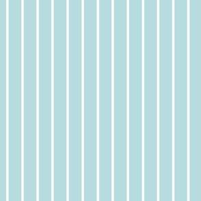 Sea Spray Pin Stripe Pattern Vertical in White
