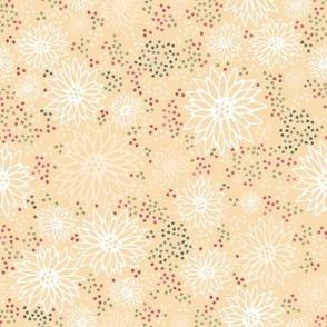 Burgundy Flowers - Yellow