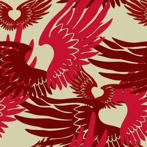 Heartwings II: Red, Beige