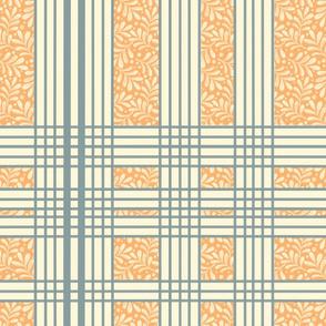 Hello Orange Modern Leaves and stripes