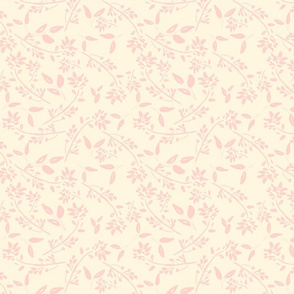 1 scattered pink painterly floral nursery baby girl vintage cottage farmhouse TerriConradDesigns
