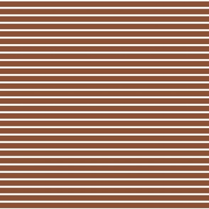 Pinstripes in Rust and White