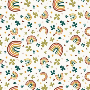 Lucky charms scattered | white