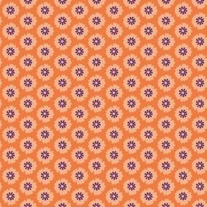 Orange Red Floral