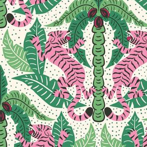Tiger Damask/green pink light version/jumbo