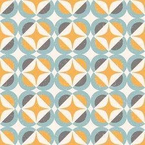 Small Scale Mid century geometric retro