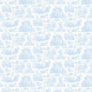 Marseilles Toile ~  Jasperware  Blue and White ~ Wee