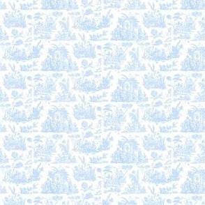 Marseilles Toile ~  Jasperware  Blue and White ~ Wee
