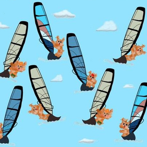 "Wind Surf Board Pup - abt. 3"" tall"