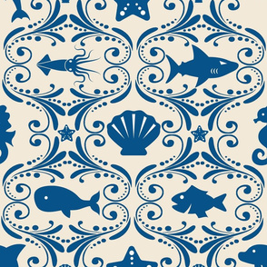 Ocean Life Rococo - Large Scale