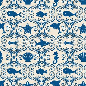 Ocean Life Rococo - Small Scale