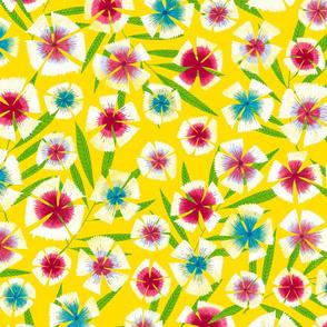 backyard gardening flowers yellow