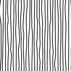 wonky upstripes (black)