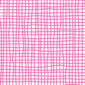 wonky checks (pink)