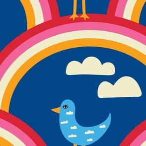 Cloud Birds and Rainbows