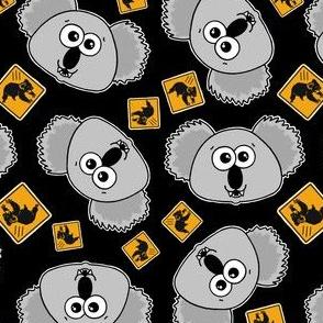 beware cute drop bears - on black