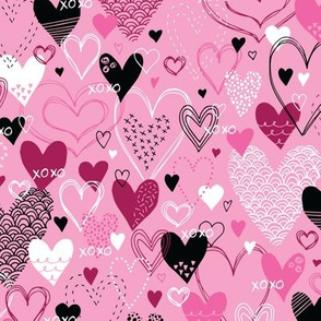 Hearts and Kisses (Pink)