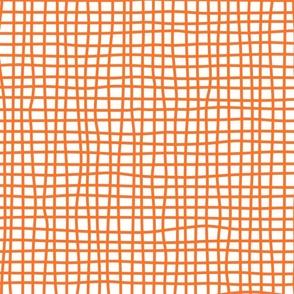 wonky checks (orange)