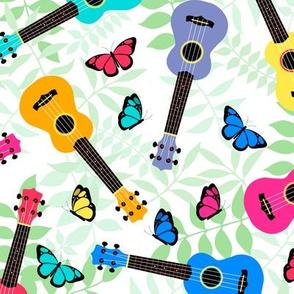 Ukulele and butterflies