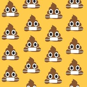Mask Wearing Poop Emoji
