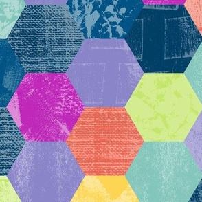 Textured Hexagons