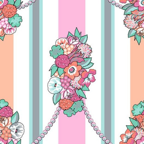 Flower Stripes Rococo