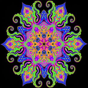 Talisman Mandala Rainbow Neon Colors Design Chall