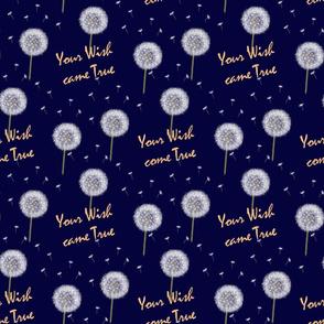 Your Wish came True, floral, talisman, good luck, blowballs, make a wish, dandelion, blue, romantic, Blowball seed, white dandelions, happiness, dreams, Dandelion blowball, dress pattern.