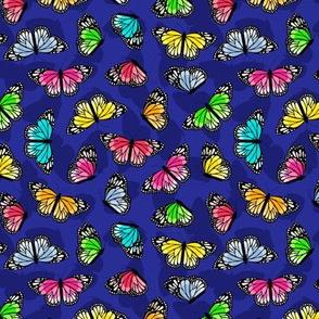 Beautiful multicolored butterflies