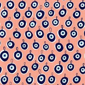 Nazar Evil Eye Charms Medium Scale- Pink