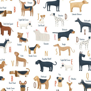 Dogs alphabet breeds Dalmatian Small scale