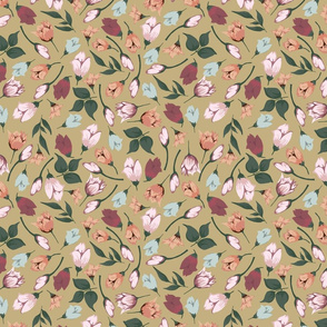 VINTAGE BLOSSOMS IN STRAW