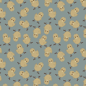 BABY CHICK IN ROBIN BLUE