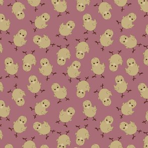 BABY CHICK IN MAUVE