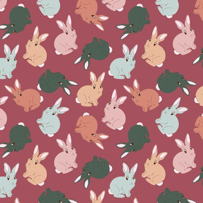 FUR BUNNY LOVE IN CRANBERRY