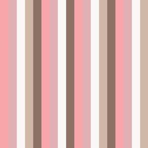 Pink Magnolia Soft Pink Stripes