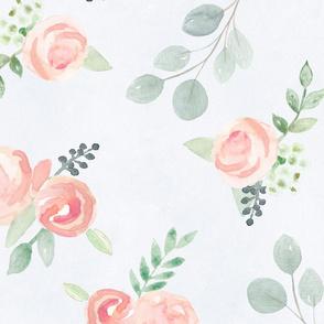 Watercolors Blush Pink pastels