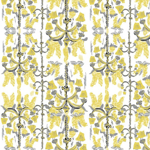 wisteria chandelier fun- yellow gray