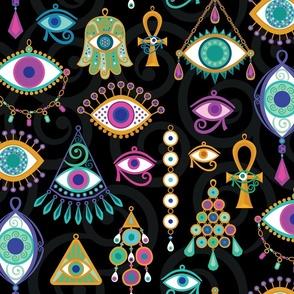 Mystical Eyes in Jewel Tones  (XL)