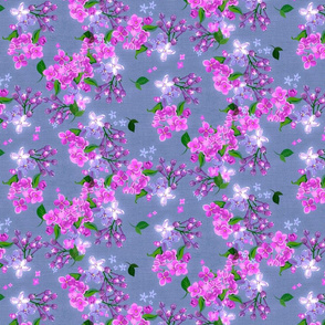 Pink, Orchid Lilacs Light Background