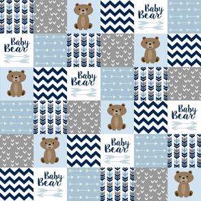 Patchwork Baby Bear Blue