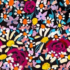 Summer Soiree Floral // Black