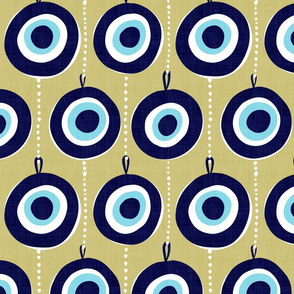 Nazar Evil Eye Talisman - Olive Yellow
