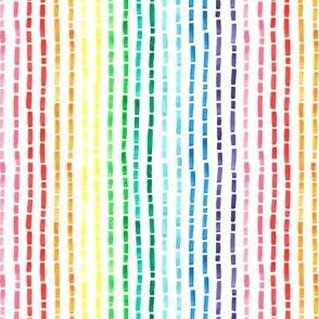 Rainbow watercolor strokes